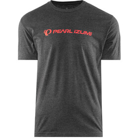 PEARL iZUMi Graphic T-shirt Heren, static logo heather black